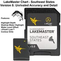Humminbird LakeMaster Chart Southeast States Version 5 Unrivaled Accuracy-Detail