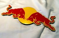 VINTAGE ....RED BULL 2-COLOR PROMOTIONAL METAL SIGNAGE + DOUBLE-SIDED