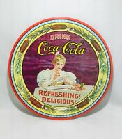 COCA COLA Hilda Clark Round Tin Serving Tray.                            *1485