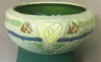 Roseville Pottery Mostique Yellow Rose Gray Ceramic Bowl 73-5