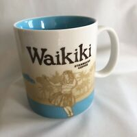STARBUCKS Waikiki Global Icon Collectors Series Coffee Mug 16 oz Cup 2011 Rare