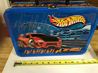 Hot Wheels Metal Tin Box with Vintage non-diecast Marketing items by Mattel