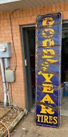 Antique Porcelain Goodyear Tires Sign Vertical
