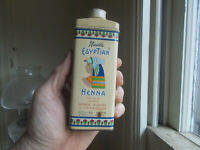 NESTLE EGYPTIAN HENNA HAIR TINT VINTAGE TIN WITH ORIGINAL TIN CAP COLORFL