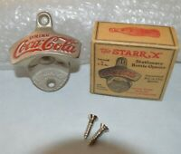 Vintage Coke Coca Cola Starr X Cast iron Wall Mount Bottle Opener