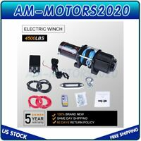12V Electric Winch 4500LBS ATV UTV Waterproof Recovery with Wireless Remote