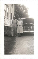 Black and White Photograph - Mom and Pop Suitcases in Trunk - Vintage Photo