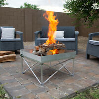 Reconditioned Portable Fire Pits For Camping, Backyard, Beach, or Outdoor Patios