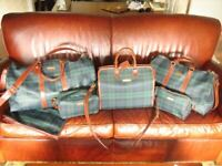 Polo Ralph Lauren blackwatch plaid luggage set