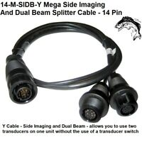 Humminbird 14 M SIDB Y Mega Side Imaging and Dual Beam Splitter Cable 14 Pin