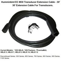Humminbird EC M30 Transducer Extension Cable 30#x27; ICE Flashers PiranhaMAX HELIX