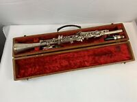Antique CLARINET METAL VINTAGE PEDLER Company with Case - Restore or Steampunk