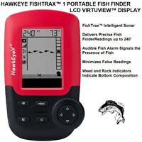 HAWKEYE FISHTRAX™ 1 PORTABLE FISH FINDER WITH LCD VIRTUVIEW™ DISPLAY