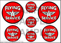 1 1 2 3 4 INCH FLYING A SERVICE GASOLINE DECALS STICKERS
