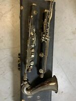Vintage Bass Clarinet  Granadilla Wood  Made In Paris France