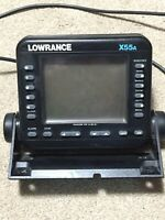 Lowrance X55A Fish Finder / Depth Finder With Power Cord No Transducer