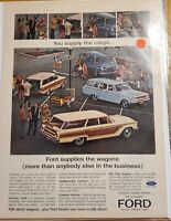 MAN CAVE ART Vintage Advertising Ford Wagons 23