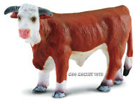 HEREFORD BULL CollectA # 88234 Farm Ranch Animal CATTLE Replica Toy NWT