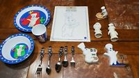 HUGE Pillsbury doughboy Kitchen Lot silverware,  plate and extras