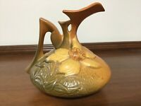 Lovely Roseville Clematis Pottery Pitcher, Marked 16-6