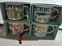 set 4 2020 Starbucks Philippines 2 oz Manila Philippines Cebu Boracay with sku