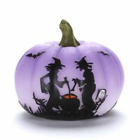 Witches Brewing Color Changing Lighted Halloween Pumpkin Decoration