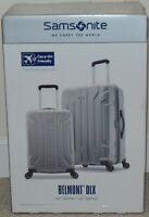 NEW SAMSONITE BELMONT DLX 2 PIECE HARDSIDE LUGGAGE SET