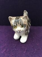 RARE Jenny Winstanley England Cat Glass Eyes Hand Painted porcelain