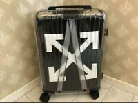 Off-white Rimowa Black See Through Carry Travel Case Trolly 36L 55x39x23cm
