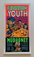 Taz Sonic Youth Original Rock Concert Poster Signed amp; Numbered