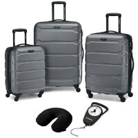 Samsonite Hardside Luggage Nested Spinner Set of 3 Charcoal with Travel Kit