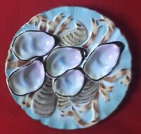 Antique late 19th / Early 20th century German Porcelain Oyster Plate