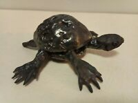 Wood fired in a manabigama kiln Artisan Made Small Ceramic Ceremonial Turtle