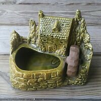 Shawnee Pottery USA Grist Mill Water Wheel Planter 769