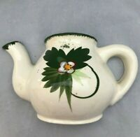 Vintage teapot wallpocket made in Japan wall pocket green white wall planter