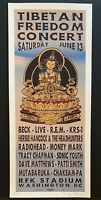 Taz Tibetan Freedom Original Concert Poster Beck Sonic Youth Radiohead