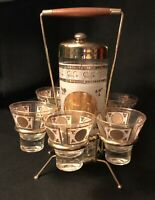 Vintage 1950S Space Age Alcohol Tequila Margarita Drink Shaker Carry Set Mexico?
