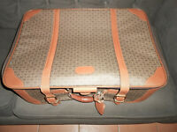 Hartmann Wings amp; Belting Leather Trim Soft Sided Suitcase Vintage