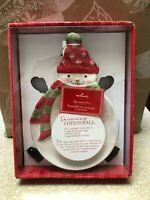 Hallmark Snowman Cheese Plate with Spreaders Christmas Platter *SAVE BIG*