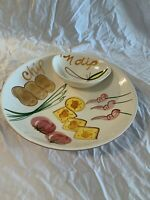 Los Angeles Pottery Hand Painted Serving Bowl Vintage Mid century Chip amp; Dip