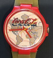 GUESS GEORGES MARCIANO SWISS MADE WOMENS COCA COLA WATCH WATER RESISTANT W CASE