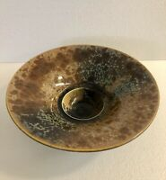"Bill Campbell Deep Crystalline Pottery Centerpiece Bowl 12 1 2"" diam."
