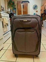 Samsonite Luggage 1910 Spinner Suitcase Expandable Upright 28 by 19 Gray wheels