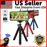 Flexible Tripod Octopus Bluetooth Remote Universal For iPhone Samsung Phone Hold $5.99