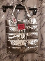 NWT Justice Live Tote Girl#x27;s Metallic Pink Travel Puffer Bag❤️Valentine's Day