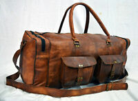 Large Bag Overnight Leather Luggage Travel Lightweight Duffel Gym Free Shipping