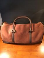 Leather Bag Overnight Carry Luggage Duffle Suede
