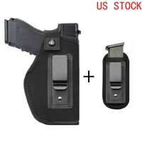 Universal IWB Gun Holster with Extra Mag Holster for Right Hand Concealed Carry