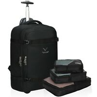 42L Rolling Backpack 22 in Wheeled Cabin Approved Carry on Suitcase Convertible