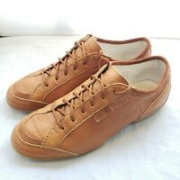 Vintage Womens Samsonite Light Brown Leather Driving Travel Shoes Size 7.5 RARE